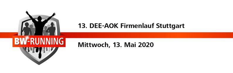 AOK Firmenlauf Stuttgart - Mittwoch, 13. Mai 2020 - Start: 18.30 Uhr - Gazi-Stadion