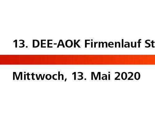Aus aktuellem Anlass: Information zum DEE-AOK Firmenlauf am 13. Mai!