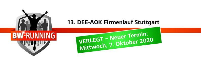 AOK Firmenlauf Stuttgart - Mittwoch, 7. Oktober 2020 - Start: 18.00 Uhr - Gazi-Stadion