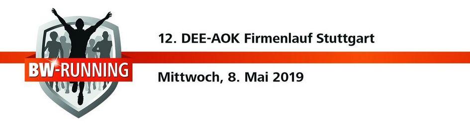 DEE-AOK Firmenlauf Stuttgart - Mittwoch, 8. Mai 2019 - Start: 18.30 Uhr - Gazi-Stadion